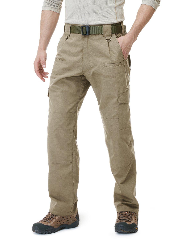 Lightweight EDC Hiking Work Pants Outdoor Apparel Water Repellent Ripstop Cargo Pants CQR Mens Tactical Pants